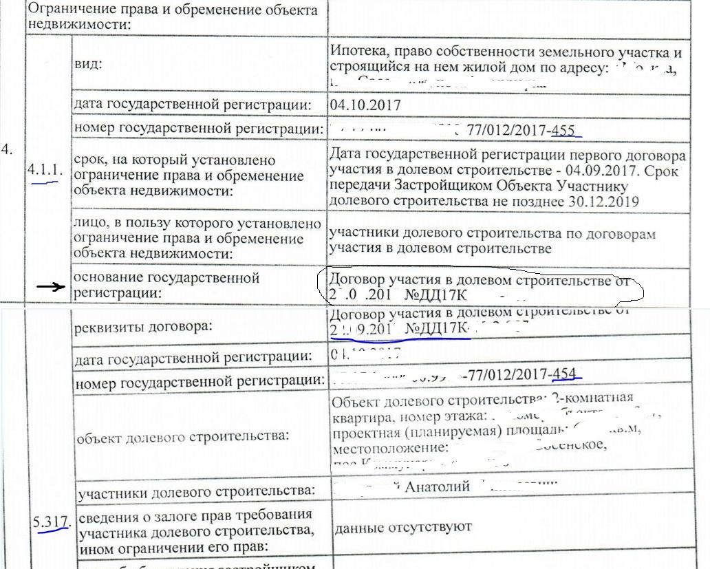 Государственная регистрация первого договора долевого участия в строительстве